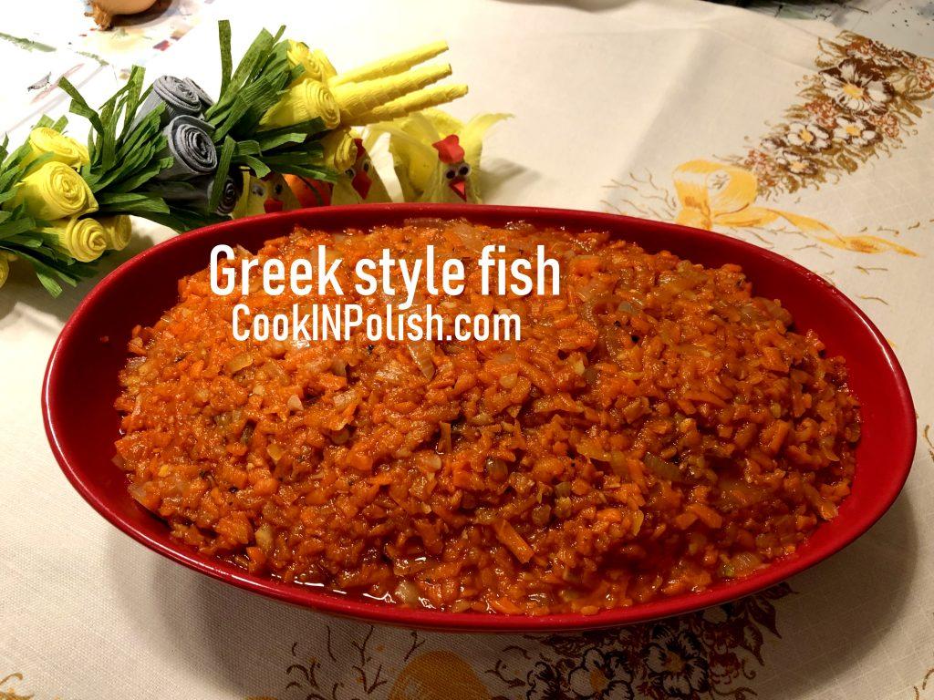 Polish 'Greek fish' served on Easter