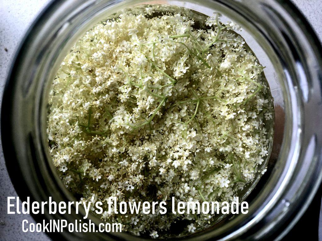 Elderberry fermented lemonade in the jar.