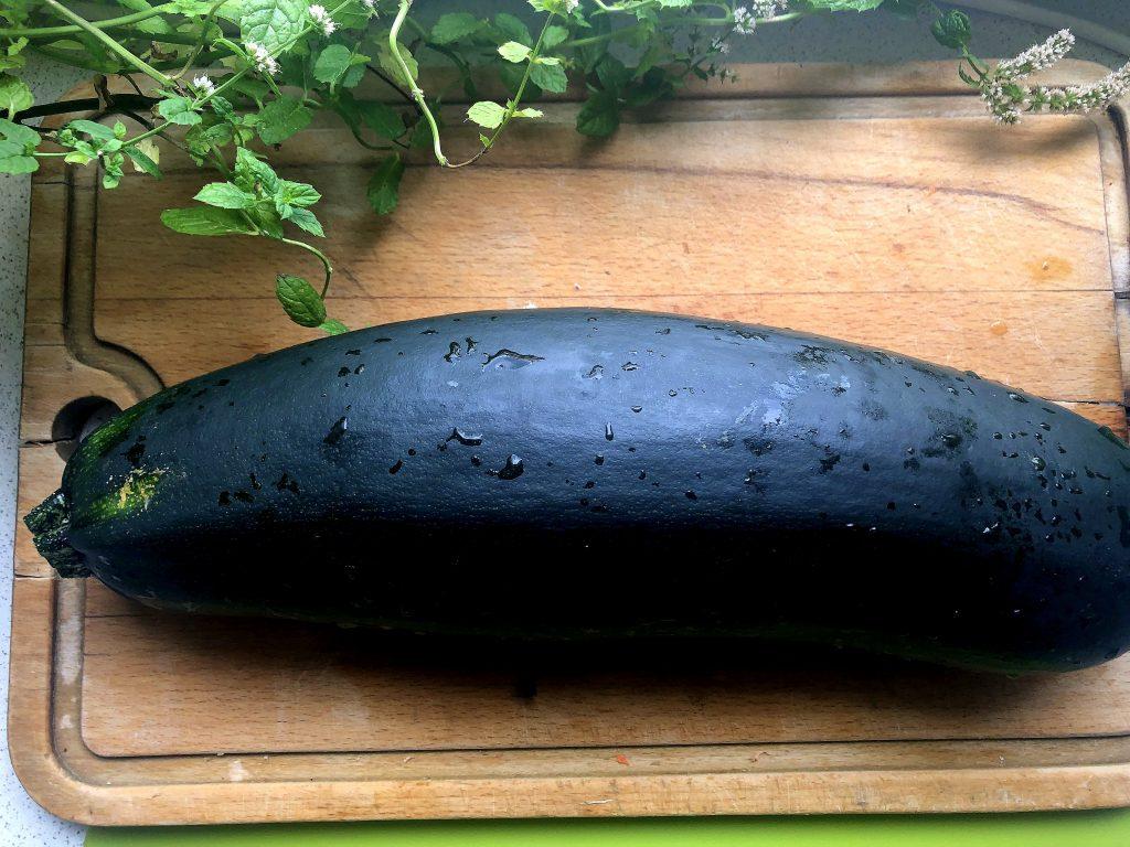Green large zucchini