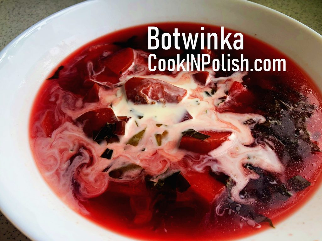 Traditional Polish Soup: Botwinka served on a plate