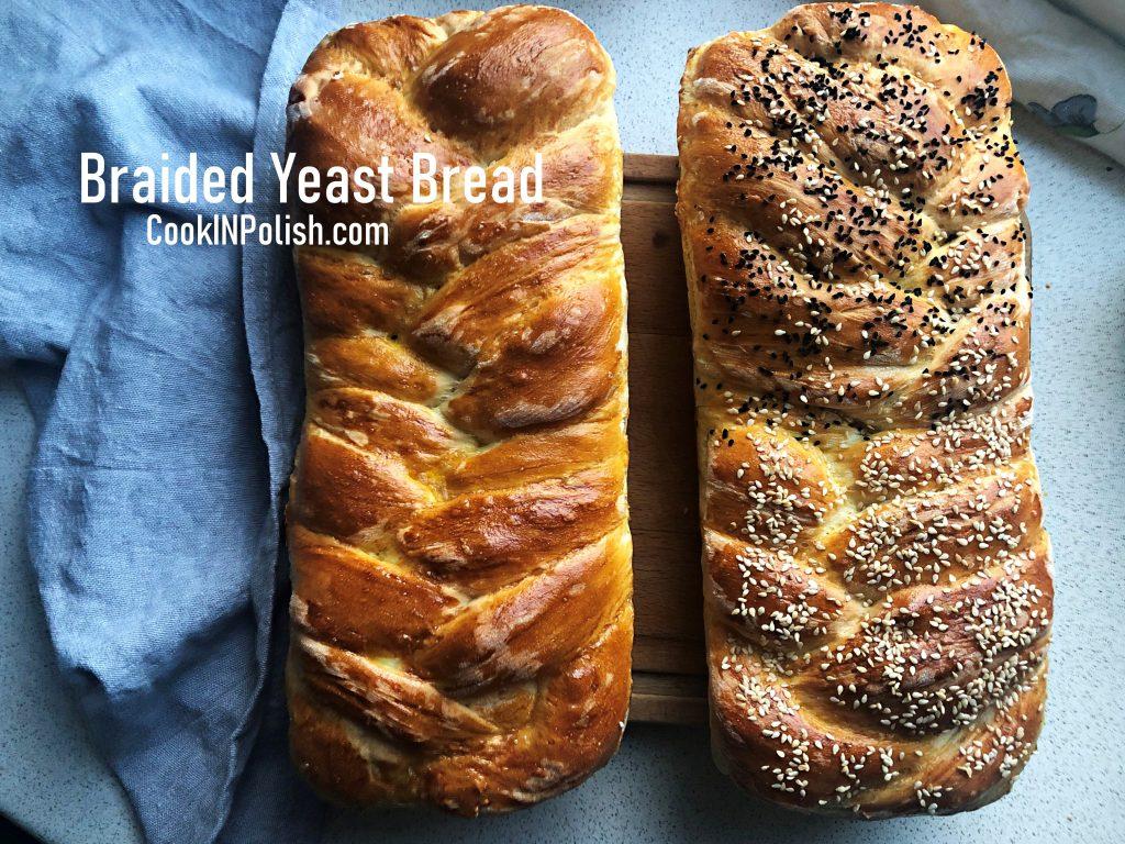 Braided Yeast Eastern Bread baked.