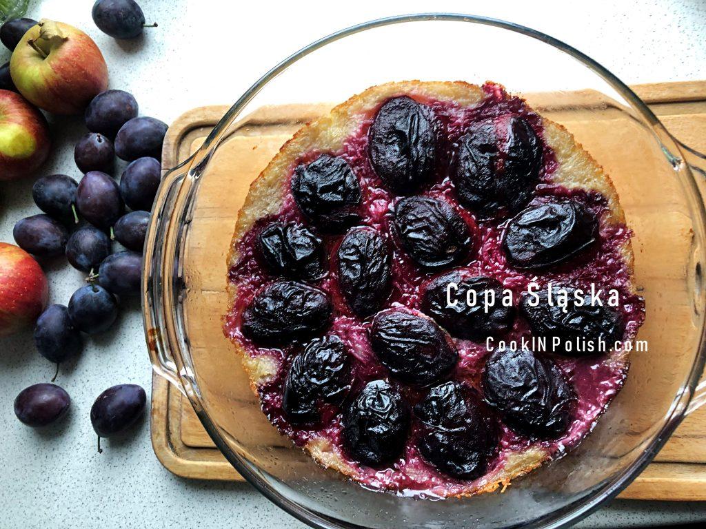 Potato Copa śląska in a baking dish